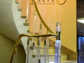 Pirinç Merdiven Korkuluğu Kod: PK-63