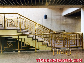 Pirinç Merdiven Korkuluğu Kod: PK-47