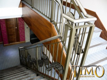 Paslanmaz Merdiven Korkuluğu Kod: PS-06